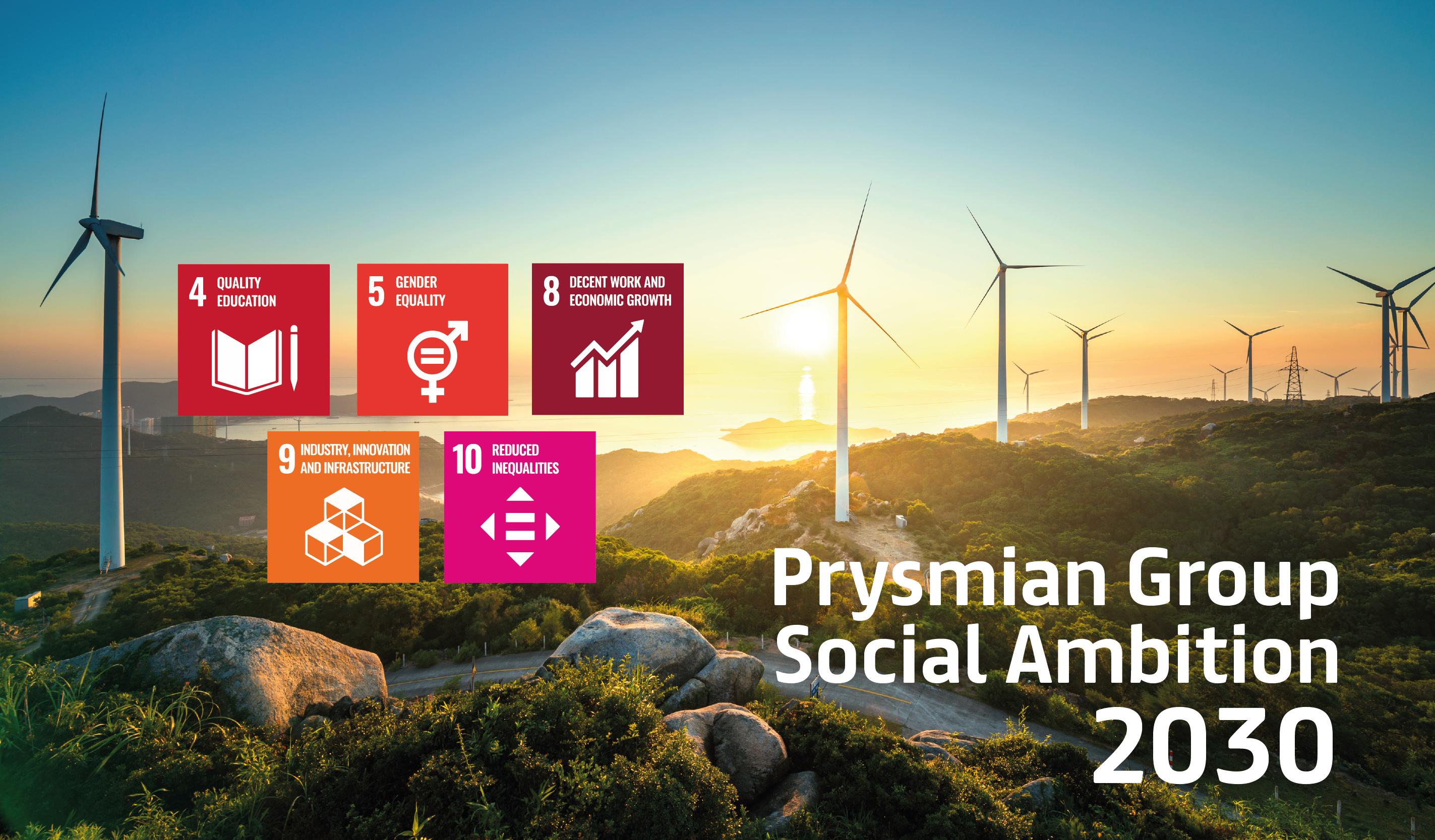 Prysmian Group akselerer  forpliktelsen til bærekraftig forretningsdrift med sosiale målsetninger som går hånd i hånd med klimaambisjonene