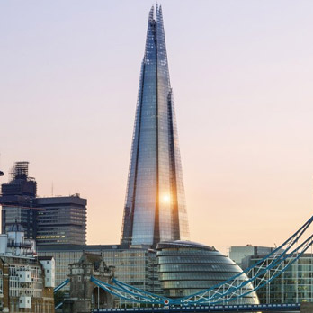 The Shard: a majestic cone of light, fed by our cables