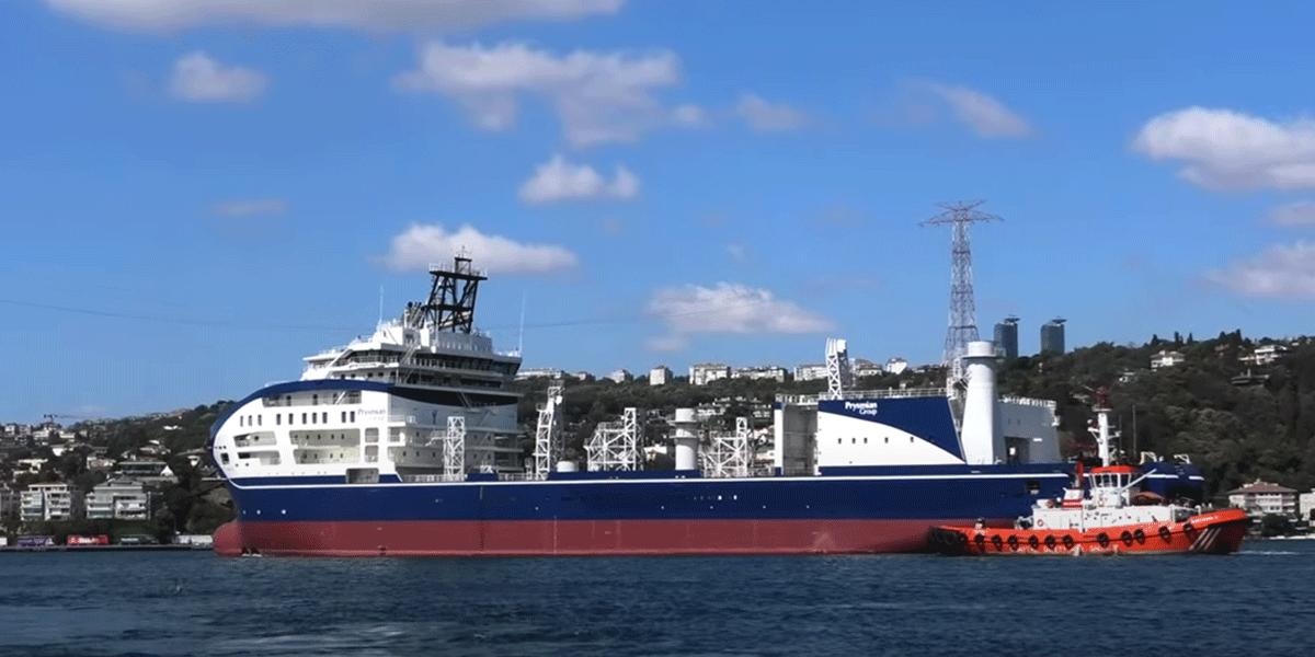 Kabelleggingsfartøyet Leonardo da Vinci har ankommet Norge