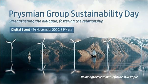 Prysmian Group launches Sustainability Day. Digital event November 24th